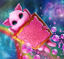 Rainbow Pop Tart Space Mew by Sarky-Sparky