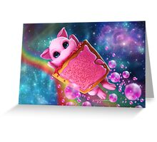 Rainbow Pop Tart Space Mew Greeting Card