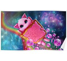 Rainbow Pop Tart Space Mew Poster