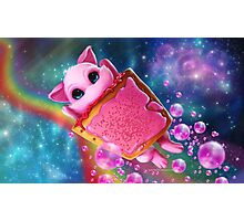 Rainbow Pop Tart Space Mew Photographic Print