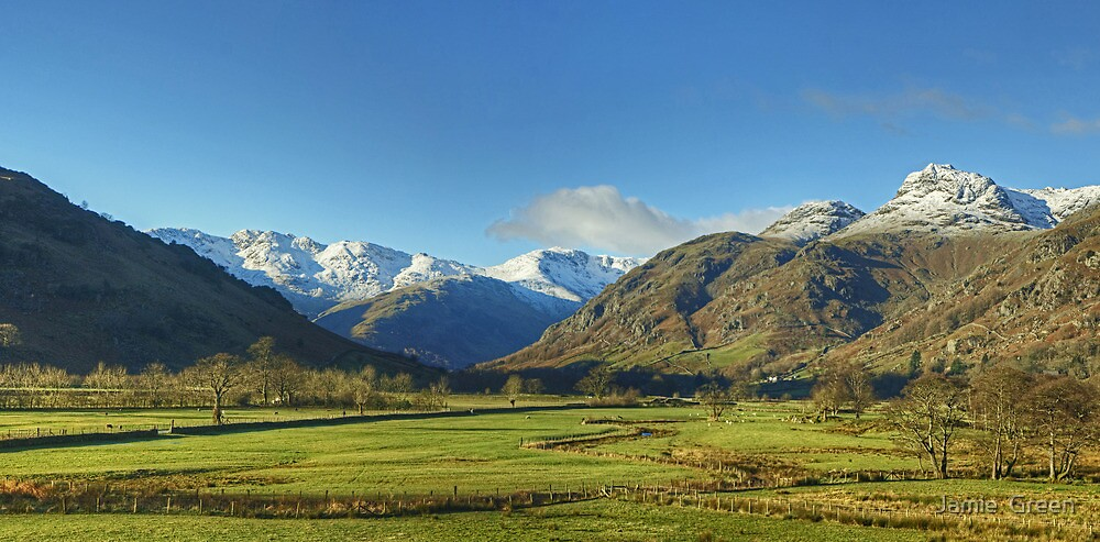 The Lake District..Great Langdale Panorama by Jamie  Green