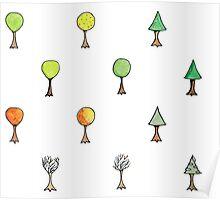 Seasonal Trees 2 Set Poster