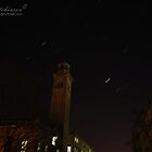Salts Mill, with stars swirling around. by andyj81