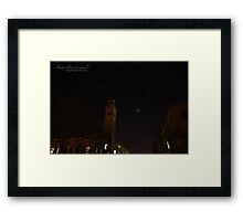 Salts Mill, with stars swirling around. Framed Print