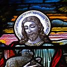 Jesus Christ Stained Glass. by Lee d'Entremont