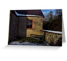 Quiet Corner, Winter Scene, County Down Greeting Card