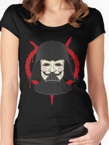 V for Vader Women's Fitted Scoop T-Shirt