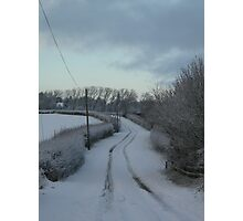 Winter Winding Road Photographic Print