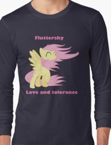 Fluttershy - Love And Tolerance Long Sleeve T-Shirt