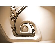staircase - central mercure Lille 2 Photographic Print