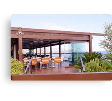 Nice hotel view above the sea  Canvas Print