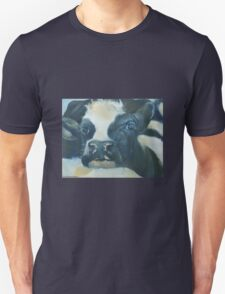 You Can Lean on Me Too --- Cow portrait T-Shirt
