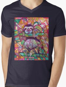Sloth Love Mens V-Neck T-Shirt