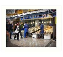Fish market in Ankara Art Print