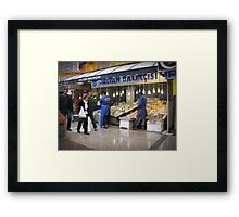 Fish market in Ankara Framed Print