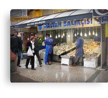 Fish market in Ankara Metal Print