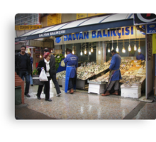 Fish market in Ankara Canvas Print