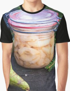 Jar full of canned, prepared and conserved pears Graphic T-Shirt