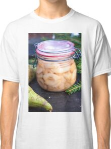 Jar full of canned, prepared and conserved pears Classic T-Shirt