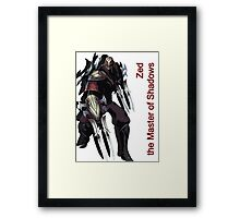 Zed - The Master Of Shadows V.2 Framed Print
