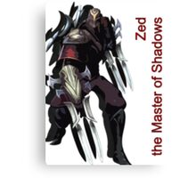 Zed - The Master Of Shadows V.2 Canvas Print
