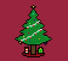 8-Bit Christmas Tree Long Sleeve T-Shirt