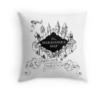 Harry Potter Marauder's Map Throw Pillow