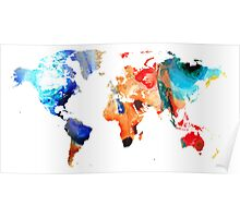 Map of The World 8 -Colorful Abstract Art Poster