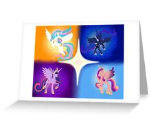 Four Princesses Greeting Card