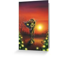 Cat Out Of Hell Greeting Card