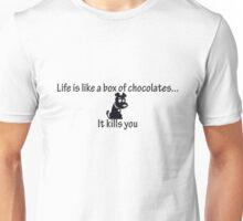 Life is like a box of chocolates dog Unisex T-Shirt