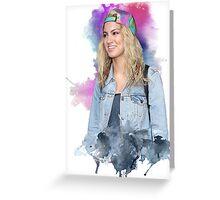 Tori Kelly Watercolor Design Greeting Card