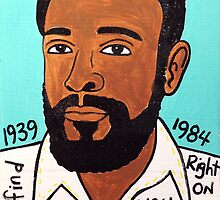 Marvin Gaye Soul Folk Art by krusefolkart
