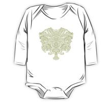 Baroque Wings Grey/ivory One Piece - Long Sleeve