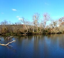 Haw river dam and waterfalls by Samohsong