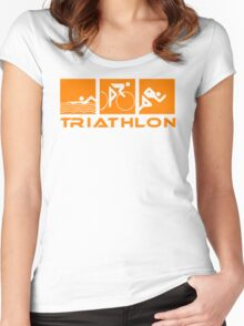 Triathlon modern icons Women's Fitted Scoop T-Shirt