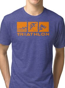 Triathlon modern icons Tri-blend T-Shirt