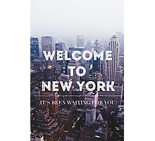 WELCOME TO NY Photographic Print
