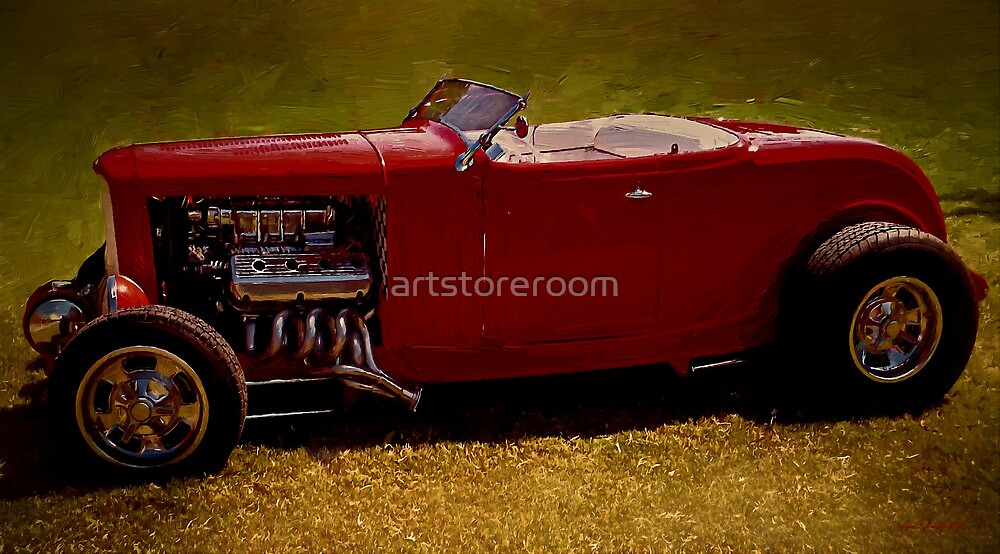 Red 32' Coupe by artstoreroom