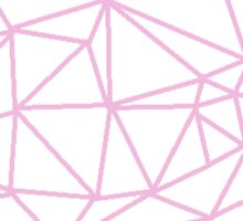 Triangle Geometric Design- Pink Sticker