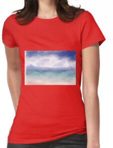 Abstract Ocean Womens Fitted T-Shirt