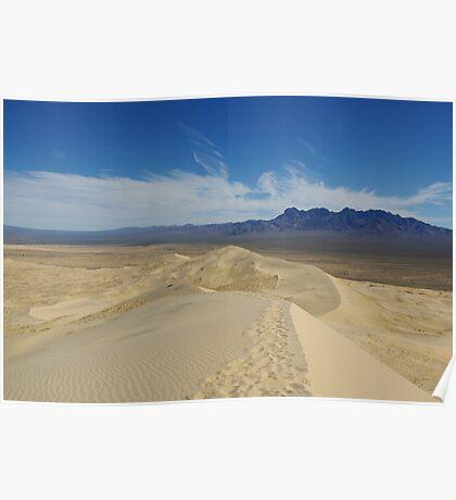 Mojave Dunes, California Poster