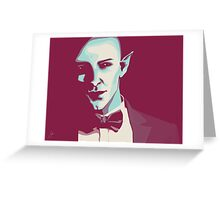 Modern Solas in a Suit Greeting Card