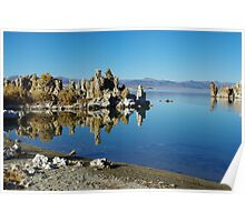Mono Lake shore and tufa formation, California Poster
