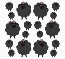 A whole herd of Black Sheep One Piece - Short Sleeve