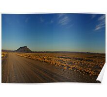 Gravel road to Factory Butte, Utah Poster