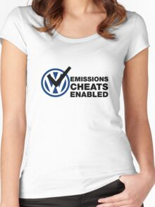 VW Emissions Cheat Enabled Women's Fitted Scoop T-Shirt