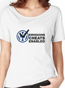 VW Emissions Cheat Enabled Women's Relaxed Fit T-Shirt