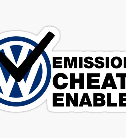 VW Emissions Cheat Enabled Sticker