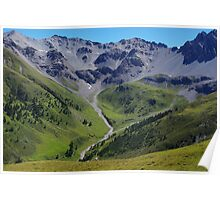 Mountains around beautiful Val Tavrü, Switzerland Poster